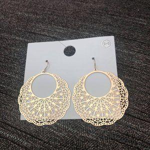 Ornate Disk Earrings